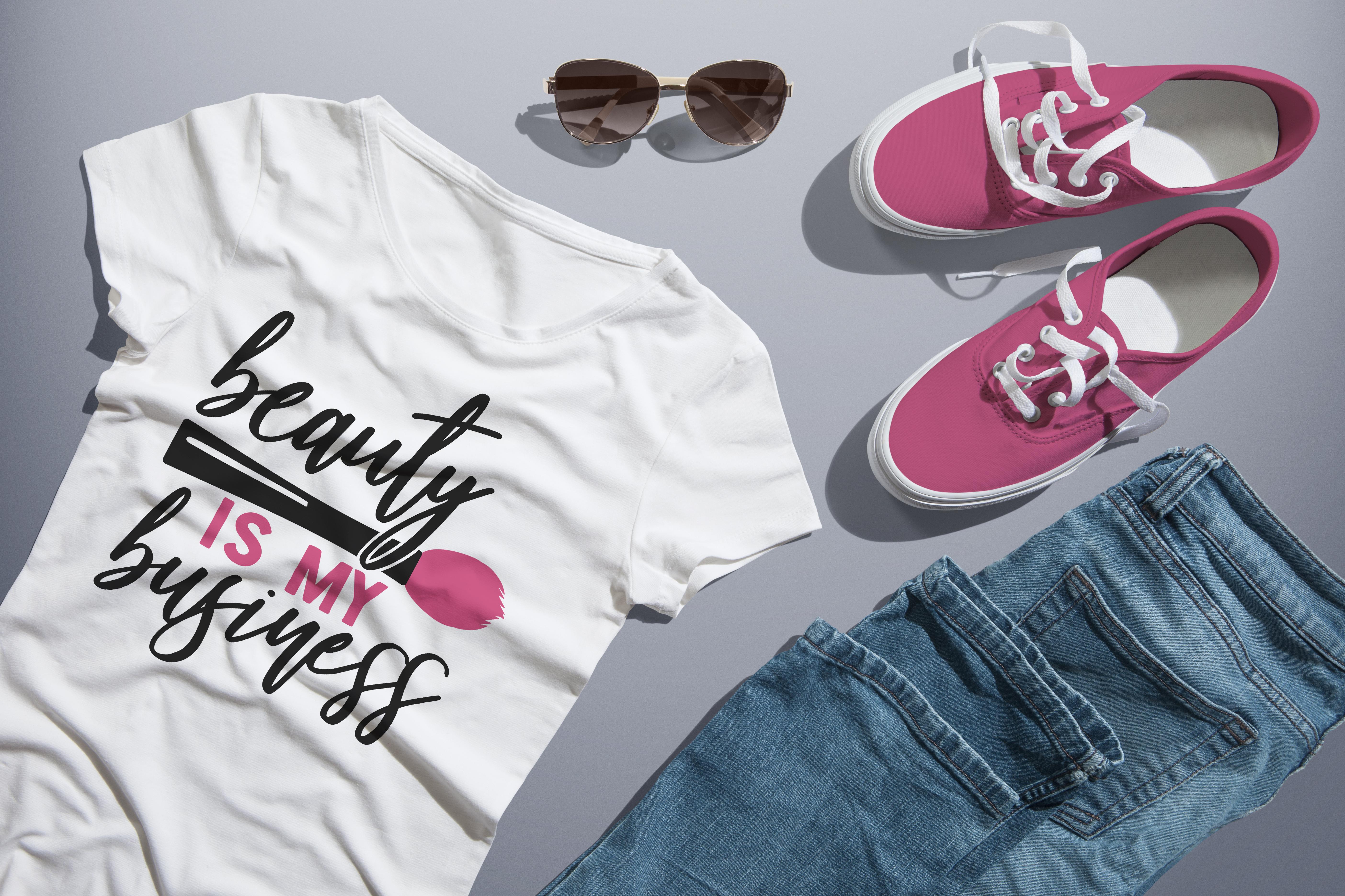 Beauty is My Hustle T-shirt Mockup